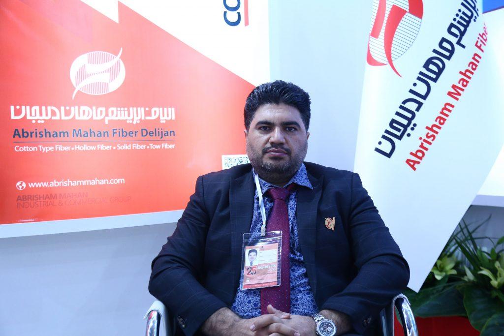 حضور مهندس نجفی مدیرعامل الیاف ابریشم ماهان در نمایشگاه نساجی 1398 | نشریه اقتصاد و نمایشگاه
