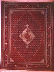 فرش دستباف طرح طرح ماهی درهم